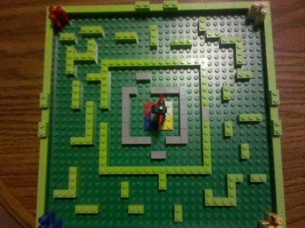Our Lego Minotaurus layout.